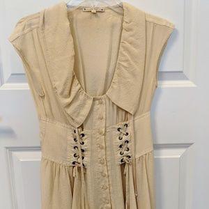 Nanette Lepore Silk corset dress SZ 2